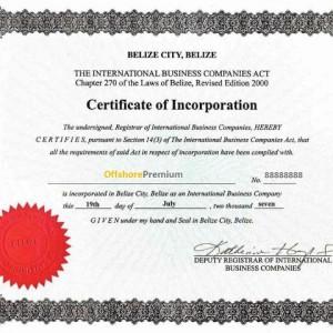 offshore-premium-belize-certificate-of-incoporation